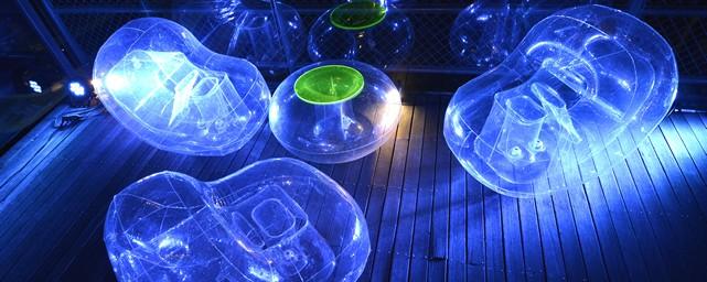 Mobilier gonflable lumière